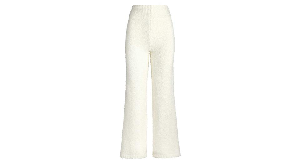 Cozy boucle knitted trousers