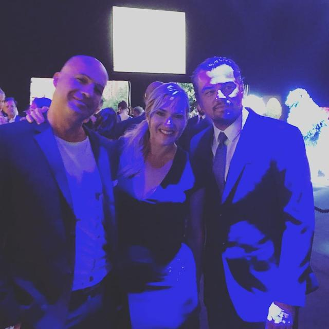 "<p>The real <em>Titanic</em> reunion happened when this trio got together. Zane Instagrammed the moment with the caption, ""Gangs back together. Now we're saving icebergs. Go figure.."" (Photo: Instagram/billyzane) </p>"