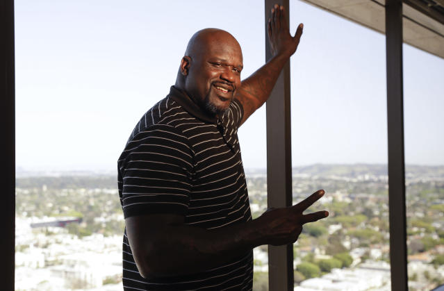 Shaquille O'Neal confirmed that yes, indeed, he did have a hand in helping launch the careers of the 90s' biggest boy bands.  (AP)