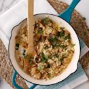 """<p>Frozen cauliflower gnocchi is a time-saving, low-carb convenience food that works perfectly as a base for creamy, comforting carbonara.</p> <p> <a href=""""http://www.eatingwell.com/recipe/269999/cauliflower-gnocchi-carbonara/"""" rel=""""nofollow noopener"""" target=""""_blank"""" data-ylk=""""slk:View recipe"""" class=""""link rapid-noclick-resp""""> View recipe </a></p>"""
