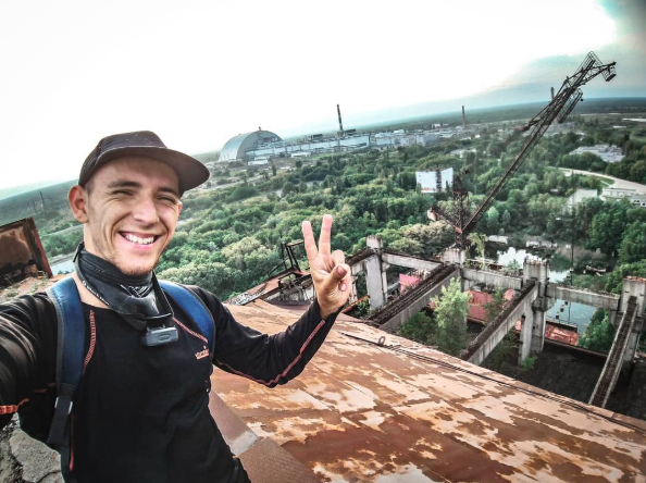 Chernobyl tourists' favourite shots include smiling selfies to stripped-down candids.