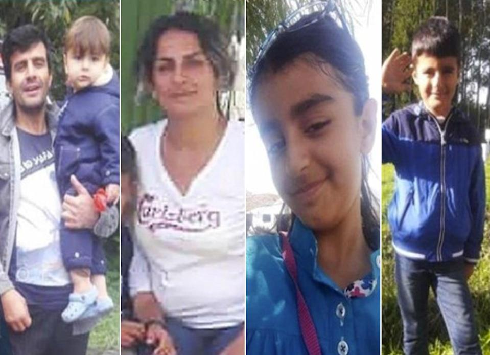 Members of a Kurdish-Iranian family – including two children, aged nine and six – who drowned on Tuesday morning when a boat they were travelling in sank off the coast of Dunkirk. The 15-month-old son remains missing. (Hengaw Human Rights Organisation)