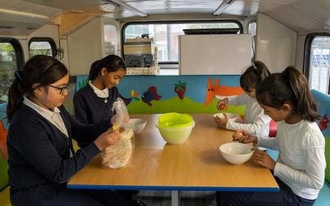 The Kobi Nazrul bus helps children learn about healthy eating - Credit: Andrew Crowley