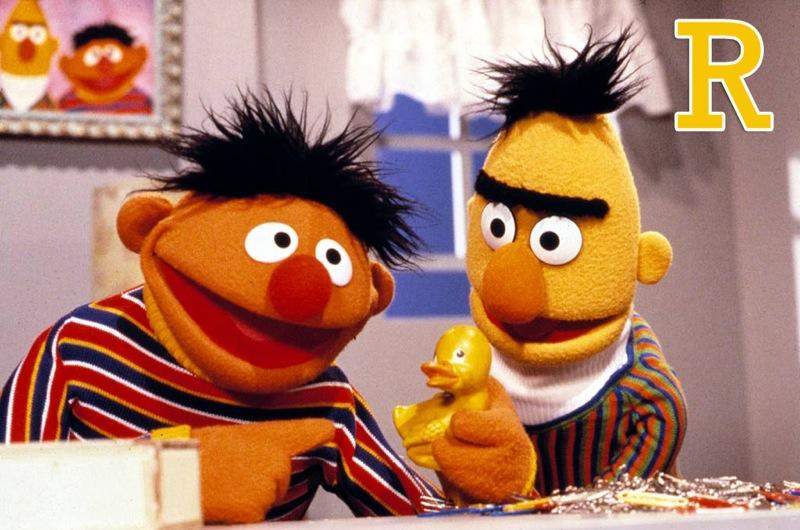 """R is for 'Rubber Ducky': How addictive was Ernie's earworm? Decades later, we can still sing """"Rubber ducky, you're the one, you make bathtime lots of fun."""" Bert can have his pigeons; we're with Ernie and his bubble-lovin' bird. <a href=""""http://www.zap2it.com/"""" rel=""""nofollow"""">Source: Zap2it</a>"""