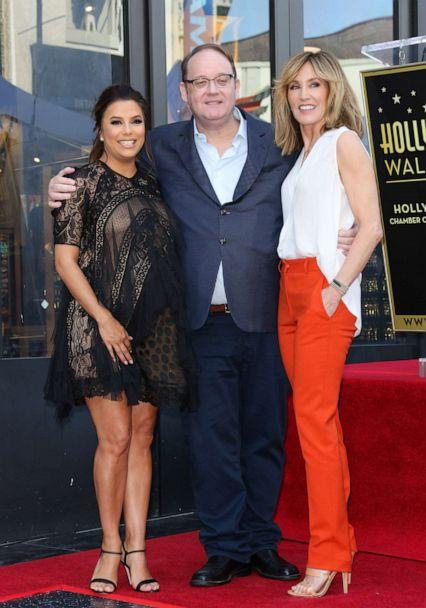 PHOTO: Eva Longoria, Marc Cherry and Felicity Huffman attend the ceremony to honor Eva Longoria with a Star on The Hollywood Walk Of Fame on April 16, 2018, in Hollywood. (Paul Archuleta/FilmMagic via Getty Images, FILE)