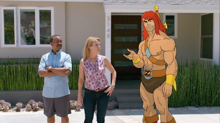 Tim Meadows, Cheryl Hines, and Zorn voiced by Jason Sudeikis (Credit: Fox)