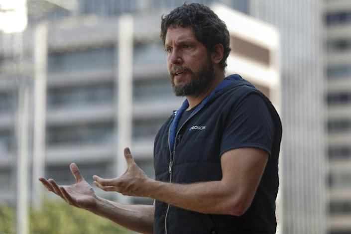 Brazilian Fernando Bottura, founder and CEO of GoWork, says the use of coworking spaces increased during the Covid-19 pandemic (AFP/Miguel SCHINCARIOL)