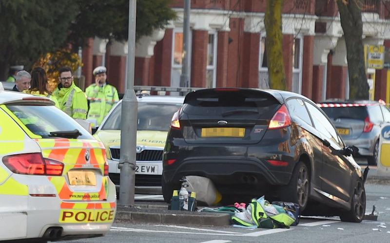 Scene of the crash in St Helens, Merseyside - Credit: ANDREW TEEBAY/Liverpool Echo