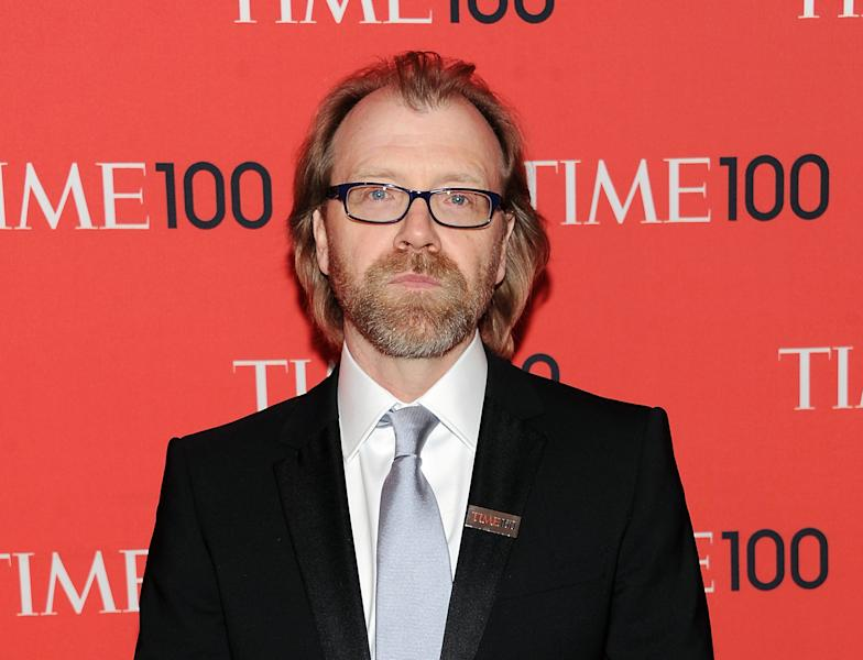 "FILE - This April 23, 2013 file photo shows writer George Saunders at the TIME 100 Gala celebrating the ""100 Most Influential People in the World"" in New York. Saunders is turning his graduation speech that went viral into a book. ""Congratulations, by the Way,"" an expanded version of his commencement speech to the Syracuse University class of 2013, is scheduled for publication by Random House in spring 2014. (Photo by Evan Agostini/Invision/AP, File)"