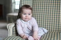 <p>A portrait of Princess Charlotte taken by the Duchess of Cambridge at Anmer Hall </p>