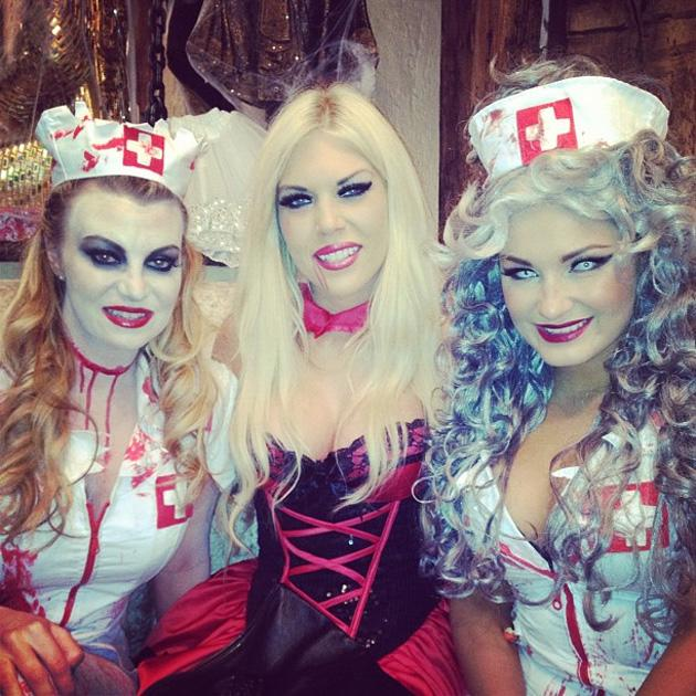 We always knew that the TOWIE lot would go all out for Halloween. Here's Sam Faiers, Frankie Essex and Billie Mucklow in their scary finery. Copyright [Sam Faiers[