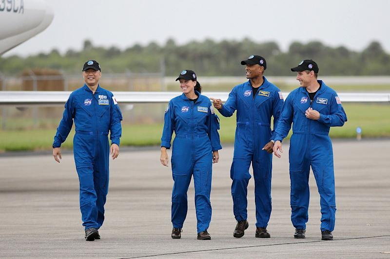 4 Astronauts Head to Fla. Ahead of SpaceX's Second Crew Launch: 'Another Big Leap'