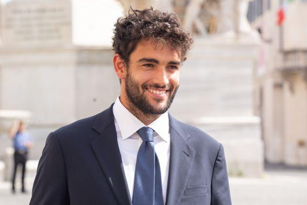 ROME, ITALY - 2021/07/12: Italian Tennis player Matteo Berrettini at the Quirinal Palace in Rome to visit the President of the Republic Sergio Mattarella after the victory of the European Football Championships. (Photo by Matteo Nardone/Pacific Press/LightRocket via Getty Images) (Photo: Pacific Press via Getty Images)