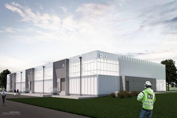A rendering is shown of the P.E.I. BioAlliance's bioscience manufacturing incubator. Construction of the 20,000 square foot facility started last September and is expected to be complete sometime this year. (P.E.I. BioAlliance - image credit)