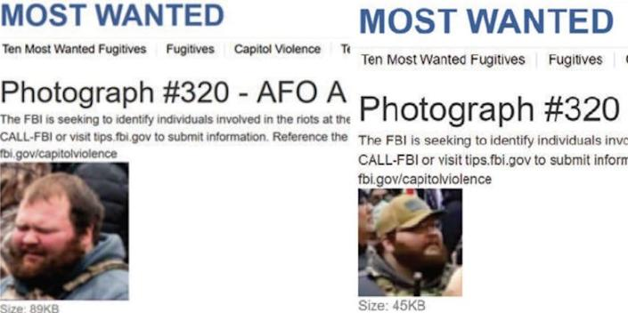 """An FBI """"Most Wanted"""" posting for Joseph Hutchinson III."""