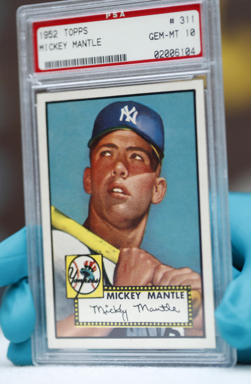 Holy Grail Of Cards 1952 Mickey Mantle Goes On Display