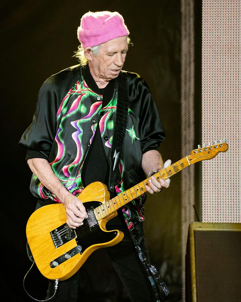 Keith Richards of the Rolling Stones performs during their No Filter tour stop at Nissan Stadium in Nashville on Oct. 9, 2021.