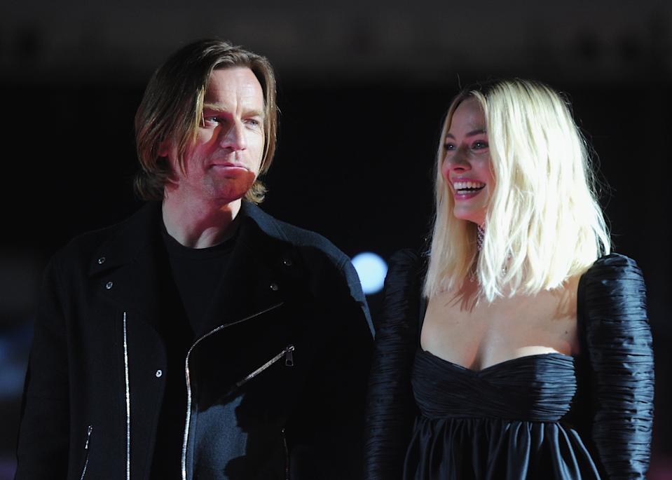"""HOLLYWOOD, CA - JANUARY 23:  Ewan McGregor and Margot Robbie attend A Night of Music and Mayhem in """"Harleywood,"""" hosted by the cast of """"Bird Of Prey (And The Fantabulous Emancipation Of One Harley Quinn)""""  held at Hollywood and Highland on January 23, 2020 in Hollywood, California.  (Photo by Albert L. Ortega/Getty Images)"""