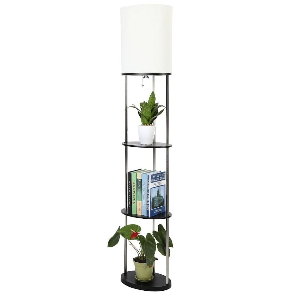 "<h3><a href=""https://www.overstock.com/Lighting-Ceiling-Fans/CO-Z-63-Inch-Modern-Etagere-Floor-Lamp-with-3-Wood-Storage-Shelf/29865059/product.html"" rel=""nofollow noopener"" target=""_blank"" data-ylk=""slk:CO-Z Floor Lamp With Storage Shelves"" class=""link rapid-noclick-resp"">CO-Z Floor Lamp With Storage Shelves </a></h3><br><strong>When your tiny apartment is also a dark tiny apartment</strong>: Allow this stylish lamp to light up your dark apartment while also playing the double-duty role of living room storage unit.<br><br><strong>CO-Z</strong> Floor Lamp with 3 Wood Storage Shelves, $, available at <a href=""https://go.skimresources.com/?id=30283X879131&url=https%3A%2F%2Fwww.overstock.com%2FLighting-Ceiling-Fans%2FCO-Z-63-Inch-Modern-Etagere-Floor-Lamp-with-3-Wood-Storage-Shelf%2F29865059%2Fproduct.html"" rel=""nofollow noopener"" target=""_blank"" data-ylk=""slk:Overstock.com"" class=""link rapid-noclick-resp"">Overstock.com</a>"