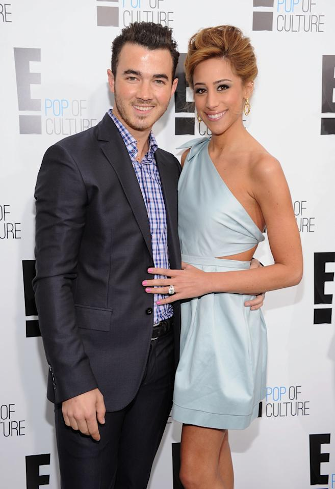 """Kevin Jonas and Danielle Jonas (""""Married to Jonas"""") attend E!'s 2012 Upfront event at Gotham Hall on April 30, 2012 in New York City."""