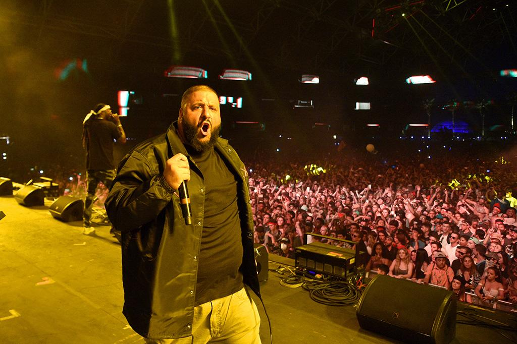 <p>INDIO, CA – APRIL 16: DJ Khaled performs on the Sahara stage during day 3 of the Coachella Valley Music And Arts Festival (Weekend 1) at the Empire Polo Club on April 16, 2017 in Indio, California. (Photo by Kevin Mazur/Getty Images for Coachella) </p>