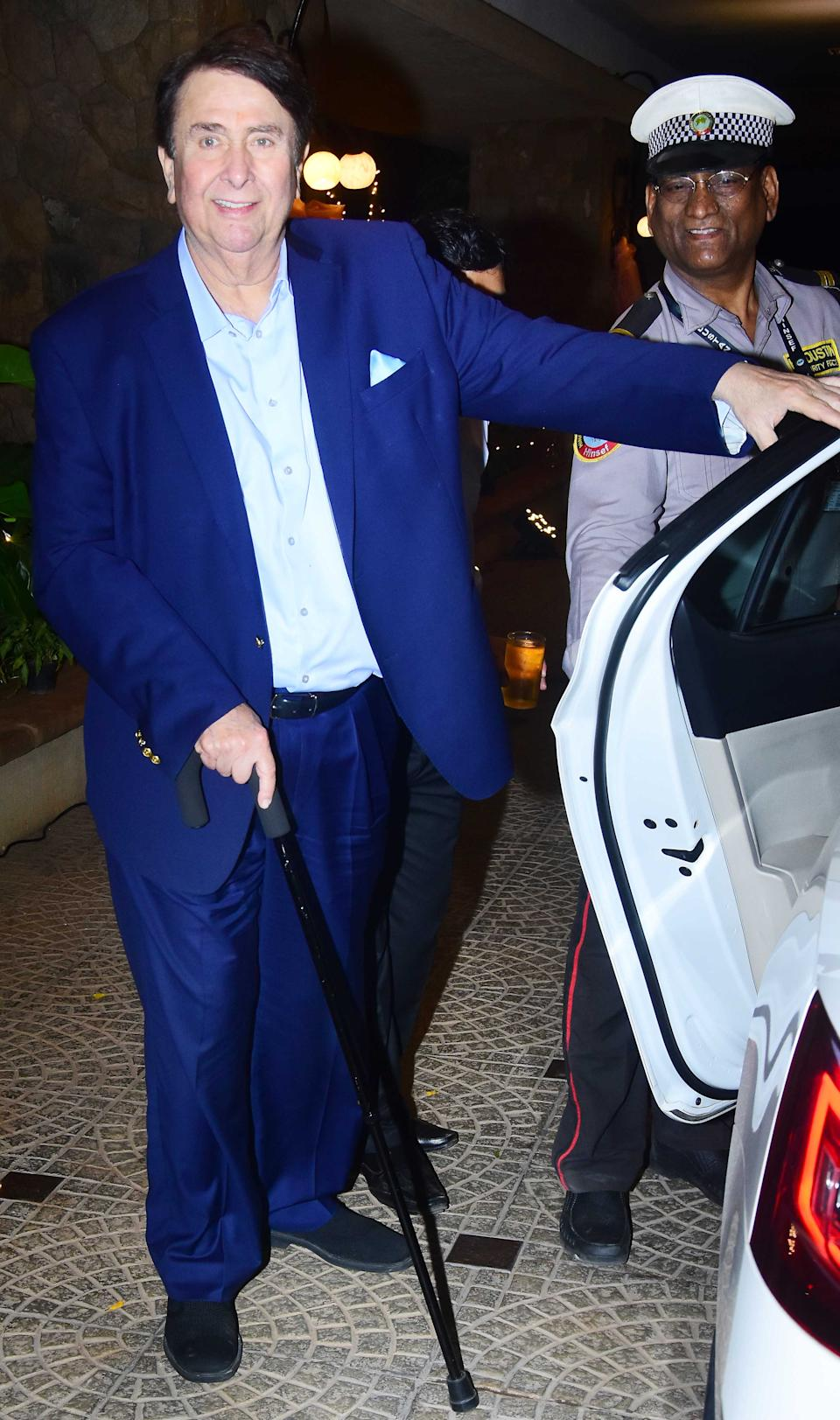 Randhir Kapoor clicked as he arrives at the venue.