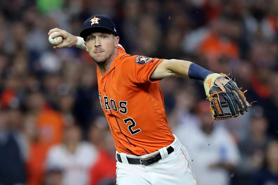 Alex Bregman started Game 7 of the World Series with a heavy heart. (Elsa/Getty Images)
