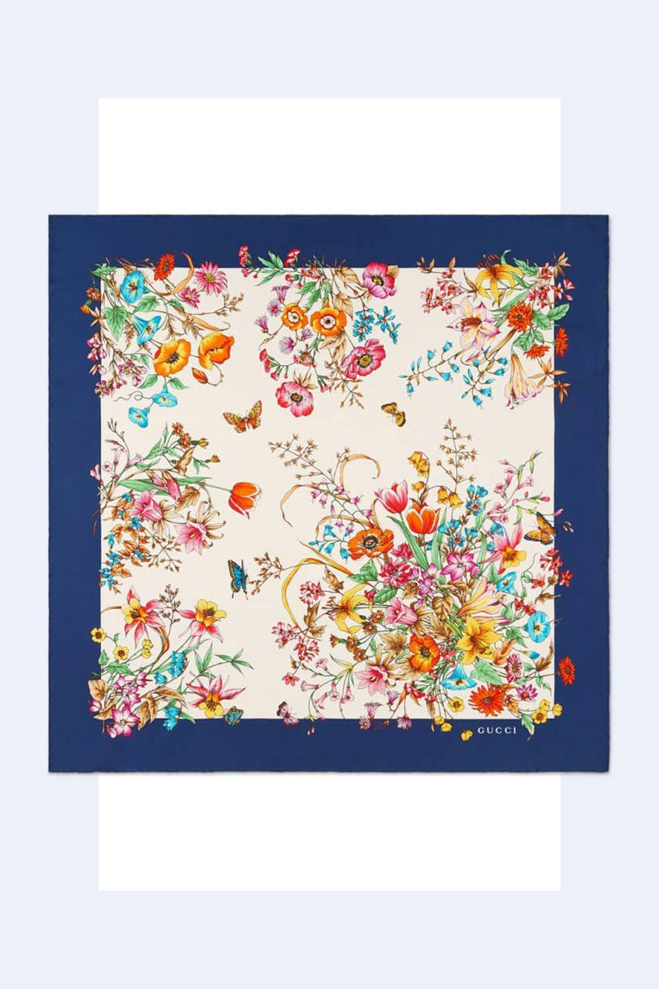 """<p><a rel=""""nofollow noopener"""" href=""""https://shop.nordstrom.com/s/gucci-eighties-bouquet-silk-scarf/5022839?origin=keywordsearch-personalizedsort&breadcrumb=Home%2FAll%20Results&color=navy%2F%20ivory"""" target=""""_blank"""" data-ylk=""""slk:SHOP NOW"""" class=""""link rapid-noclick-resp"""">SHOP NOW</a> <em>Gucci Silk Scarf, $495</em></p><p>""""A scarf is extremely multi-purpose. A <strong>silk scarf</strong> can be tied at the neck or draped over your shoulders in the evening."""" -<em><a rel=""""nofollow noopener"""" href=""""http://theonly.agency/negar-ali-kline"""" target=""""_blank"""" data-ylk=""""slk:Negar Ali Kline"""" class=""""link rapid-noclick-resp"""">Negar Ali Kline</a></em></p>"""