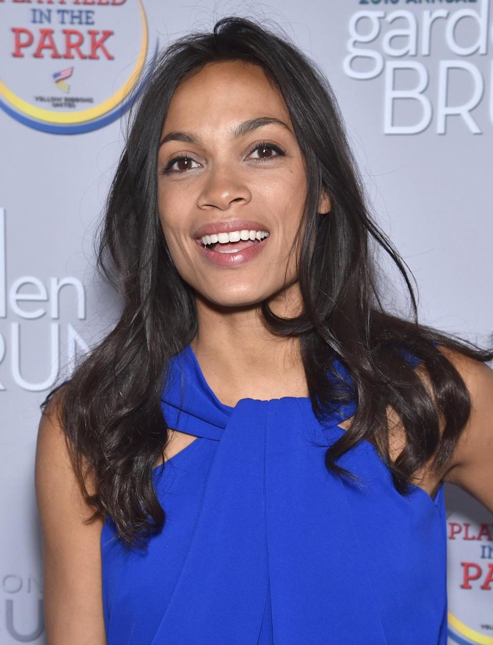 <p>Actress Rosario Dawson attends the Garden Brunch prior to the 102nd White House Correspondents' Dinner, April 30. <i>(Photo: Dimitrios Kambouris/Getty Images)</i></p>