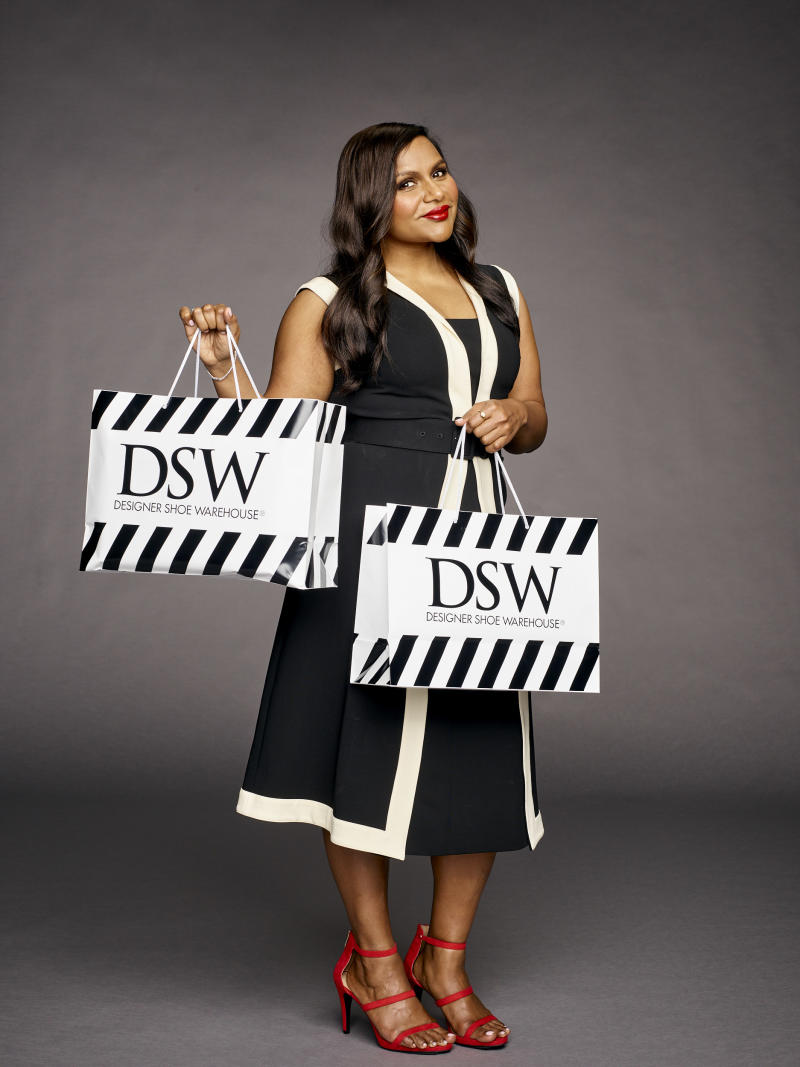 6a951505c8 Mindy Kaling Shares Love for Shoes in DSW Campaign