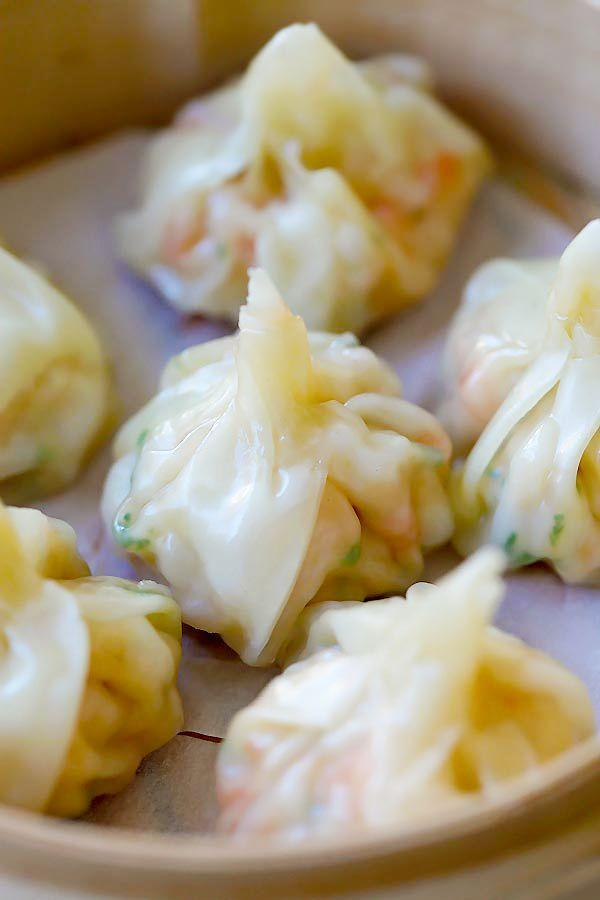 """<p>You cannot start a Chinese-American dinner without wontons of some sort.</p><p>Get the recipe from <a href=""""http://rasamalaysia.com/shrimp-wontons/"""" rel=""""nofollow noopener"""" target=""""_blank"""" data-ylk=""""slk:Rasa Malaysia"""" class=""""link rapid-noclick-resp"""">Rasa Malaysia</a>.</p>"""
