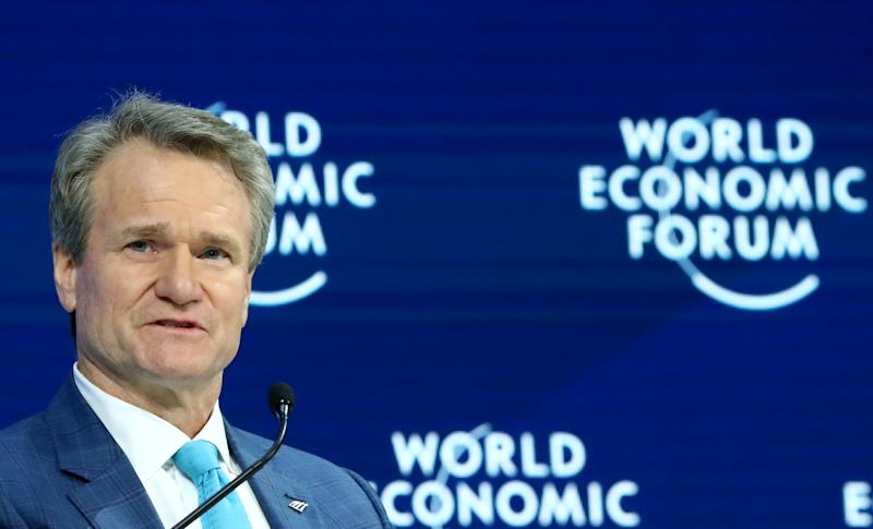 Chairman and CEO of Bank of America Brian T. Moynihan attends a session at the 50th World Economic Forum (WEF) annual meeting in Davos, Switzerland, January 21, 2020. REUTERS/Denis Balibouse
