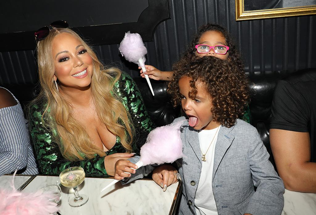 <p>The songstress took her little ones, 6-year-old twins Moroccan and Monroe, for cotton candy at Sugar Factory American Brasserie in Miami. It was, we're assuming, the 128th most-fun thing they did that day. (Photo: Alexander Tamargo/Getty Images for Sugar Factory American Brasserie) </p>