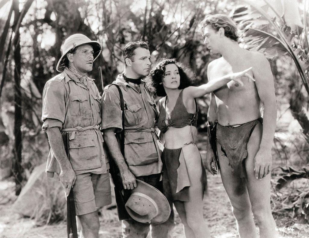 <p>The roots of the thong can be traced to the early days of man and their adoption of the loincloth–two pieces of animal hide tied together by rope to cover one's front and backsides. </p><p>Actors in the 1932 film <em>Tarzan the Ape Man </em>brought back the loincloth look to portray life as residents of the jungle.<em></em></p>