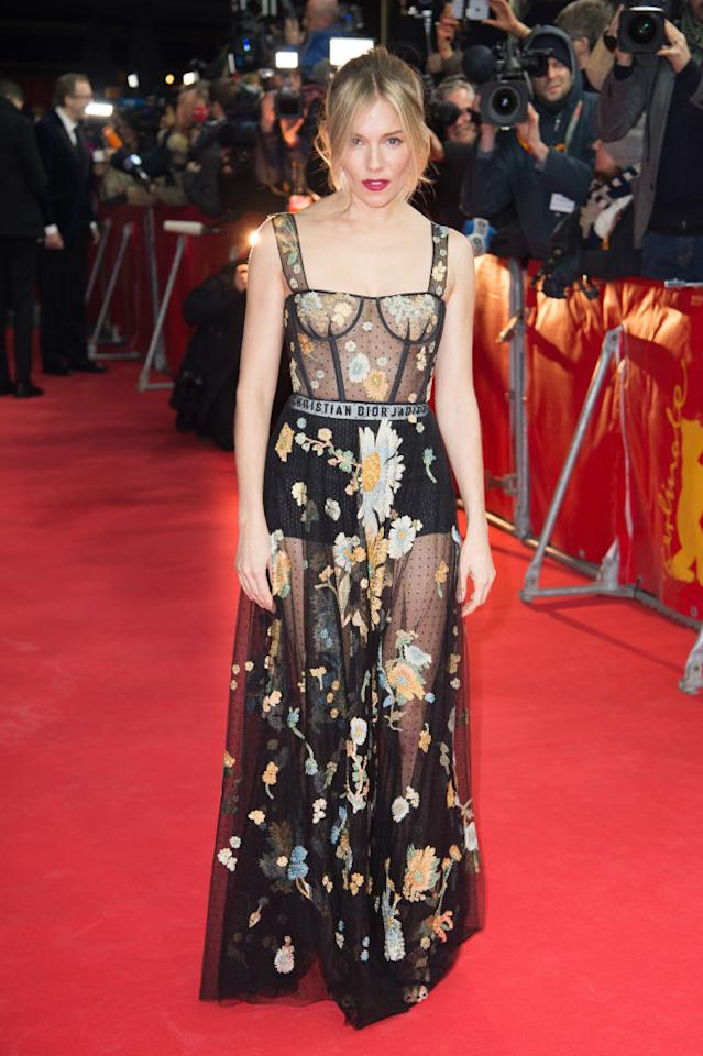 <p>The 35-year-old actress wore a sheer black version to the premiere of <i>The Lost City of Z</i> during the 67th Berlinale International Film Festival on Feb. 14 in Berlin. (Photo: Getty Images) </p>