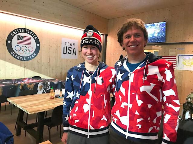 <p>caitlinmpatterson: At the #Olympics, watching Olympic events on TV with friends, in matching Team USA sweaters! And with newly verified, authenticated Instagram accounts. How #excited are we?! #gooddays #siblings #TeamUSA #redwhiteandblue<br>(Photo via Instagram/caitlinmpatterson) </p>