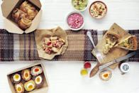 "<p>Breaking news: the Pique-Nique (from £70) might just be the ultimate al-fresco gourmet experience of summer 2021. From the up-and-coming foodie brand Pique, this generous selection of picnic classics with a modern twist – including chorizo, apricot and thyme sausage rolls, and orzo with fresh pesto dressing, peas and pea shoots – is packed full of delicious ingredients and moreish flavours. The picnics are delivered in brilliant disposable card hampers – be sure to order one for your next park soirée and your friends will still be talking about the mind-blowingly good soft-yolk black pepper and mustard scotch eggs for weeks to come.</p><p><a href=""http://www.piquefood.co.uk"" rel=""nofollow noopener"" target=""_blank"" data-ylk=""slk:www.piquefood.co.uk"" class=""link rapid-noclick-resp"">www.piquefood.co.uk</a></p>"