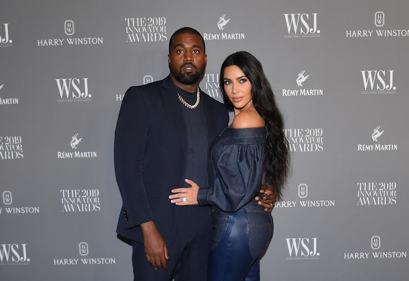 Kim Kardashian West y su esposo Kanye West en Nueva York, el 6 de noviembre de 2019. ANGELA WEISS/AFP via Getty Images