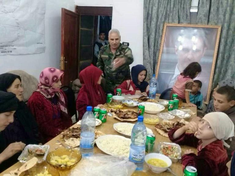 The Syrian army hosts a dinner for 17 Druze women and children freed from more than three months of capitivity at the hands of the Islamic State group