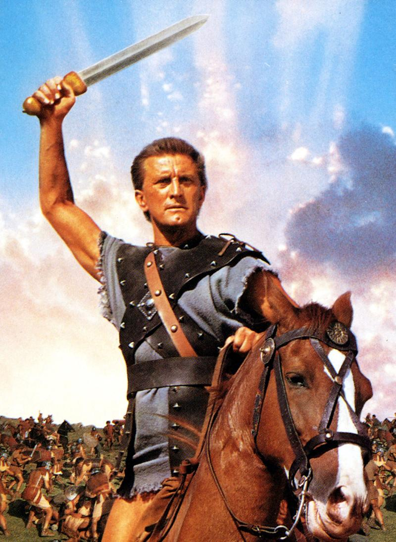 Kirk Douglas as Spartacus in 1960. | Mary Evans—Ronald Grant/Everett Collection