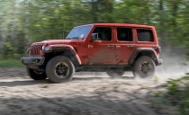 "<p>This is what a Jeep is supposed to look like. Tracing its lineage back through all the CJ models to the first military MB, here is the <a href=""https://www.caranddriver.com/jeep/wrangler"" rel=""nofollow noopener"" target=""_blank"" data-ylk=""slk:Jeep Wrangler"" class=""link rapid-noclick-resp"">Jeep Wrangler</a>. Familiar looks go with brilliant performance straight out of the box. Every model has four-wheel drive and two solid axles, its two- and four-door body styles can easily be stripped down, leaving them doorless and/or topless for unrivaled exploration exposure. The Jeep provides 10.9 inches of ground clearance, an approach angle of 44 degrees, and a departure angle of 37 degrees. Its front and rear axles can be fitted with locking differentials and share a two-speed transfer case with low-range gear ratios for optimal crawling capability and traction. A disconnecting front anti-roll bar and beefy 33-inch BFGoodrich KM all-terrain tires are included on the hardest-core Rubicon trim.</p>"