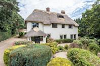 """<p>We love this cutesy cottage, which is jam-packed with everything you could need for a lazy weekend in the country. It's impossible not to be drawn in by the quaint interiors, ridiculously pretty gardens and home comforts. With space for up to 12 guests, this is the ultimate country party pad. </p><p><strong>Guests: </strong>Up to 12<br><strong>Pricing: </strong>From £2,529</p><p><a class=""""link rapid-noclick-resp"""" href=""""https://go.redirectingat.com?id=127X1599956&url=https%3A%2F%2Fwww.toadhallcottages.co.uk%2Fholiday-cottages%2Fthatchby-oak%2F2275&sref=https%3A%2F%2Fwww.countryliving.com%2Fuk%2Ftravel-ideas%2Fstaycation-uk%2Fg35804522%2Fgroup-accommodation-holiday-homes-uk%2F"""" rel=""""nofollow noopener"""" target=""""_blank"""" data-ylk=""""slk:BOOK NOW"""">BOOK NOW</a> </p>"""