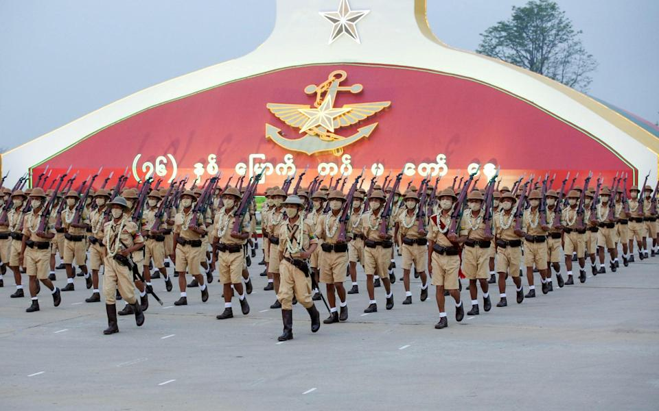 The Myanmar military on Armed Forces Day - Reuters