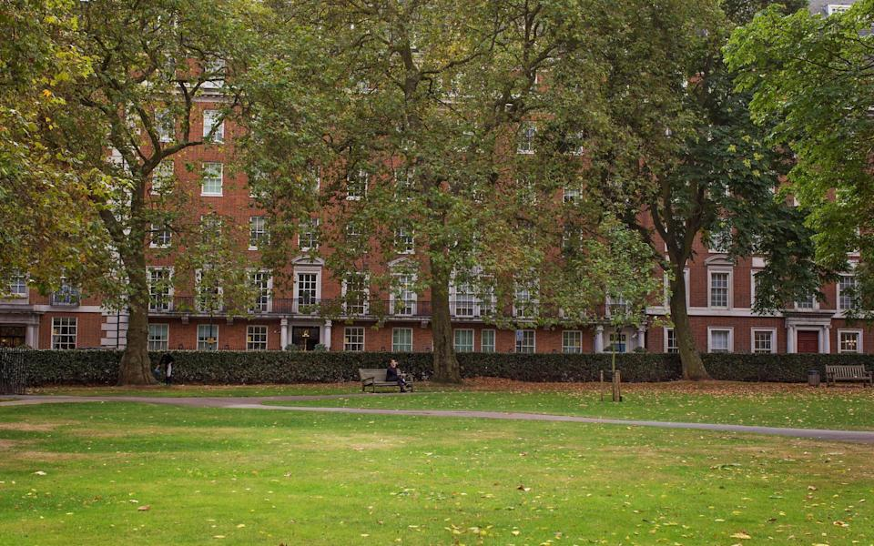 Grosvenor Square, with its calm green space in the centre of Mayfair - Getty