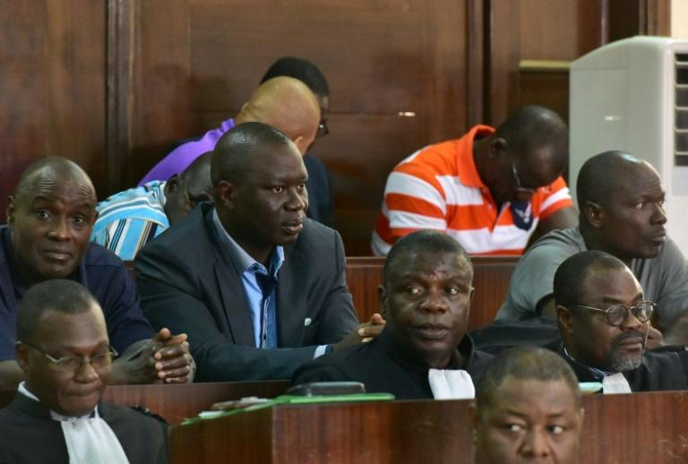 General Brunot Dogbo Ble, seen wearing a blue shirt, was sentenced to 18 years