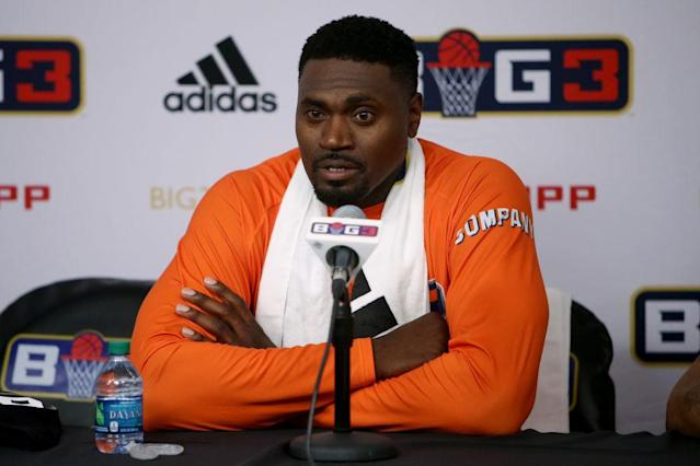 Jason Maxiell now plays for 3's Company in the BIG3 basketball league. (Getty Images)