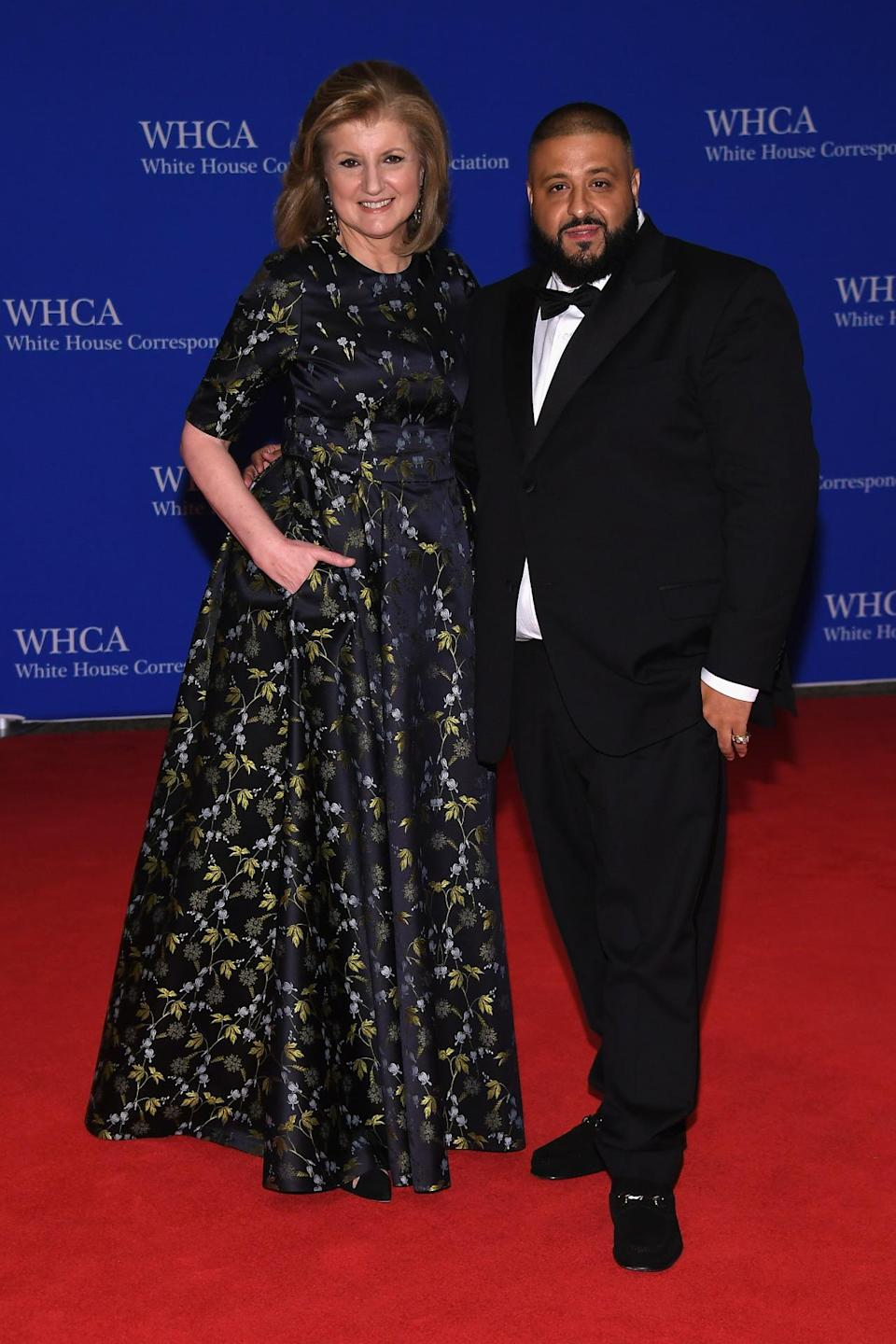 <p>Arianna Huffington and DJ Khaled attend the 102nd White House Correspondents' Dinner, April 30. <i>(Photo: Larry Busacca/Getty Images)</i></p>