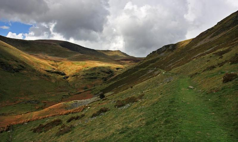 The main Berwyns ridge, North Wales.