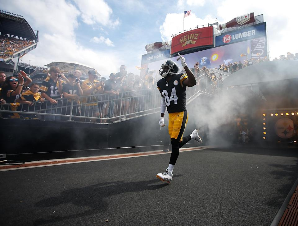 Antonio Brown's intensity on the sideline was a hot topic with the Steelers this week. (Getty Images)