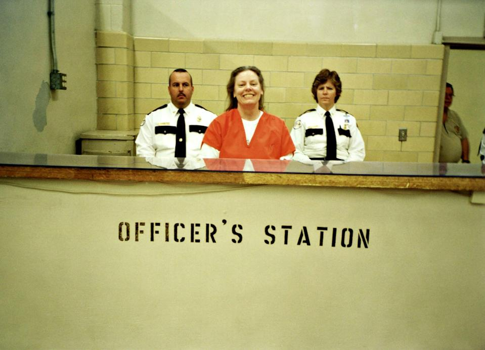 """<p>One of the most infamous female serial killers of all time, Aileen Wuornos was convicted of killing six men in Florida between 1989 and 1990. Now as she sits behind bars, <strong>Aileen: Life and Death of a Serial Killer</strong> includes interviews of the mentally unstable killer, and attempts to piece together her crimes and the consequences. </p> <p><a href=""""https://www.amazon.com/Aileen-Life-Death-Serial-Killer/dp/B00RJ0N0D8"""" class=""""link rapid-noclick-resp"""" rel=""""nofollow noopener"""" target=""""_blank"""" data-ylk=""""slk:Watch Aileen: Life and Death of a Serial Killer  on Amazon Prime Video"""">Watch <strong>Aileen: Life and Death of a Serial Killer </strong> on Amazon Prime Video</a>.</p>"""